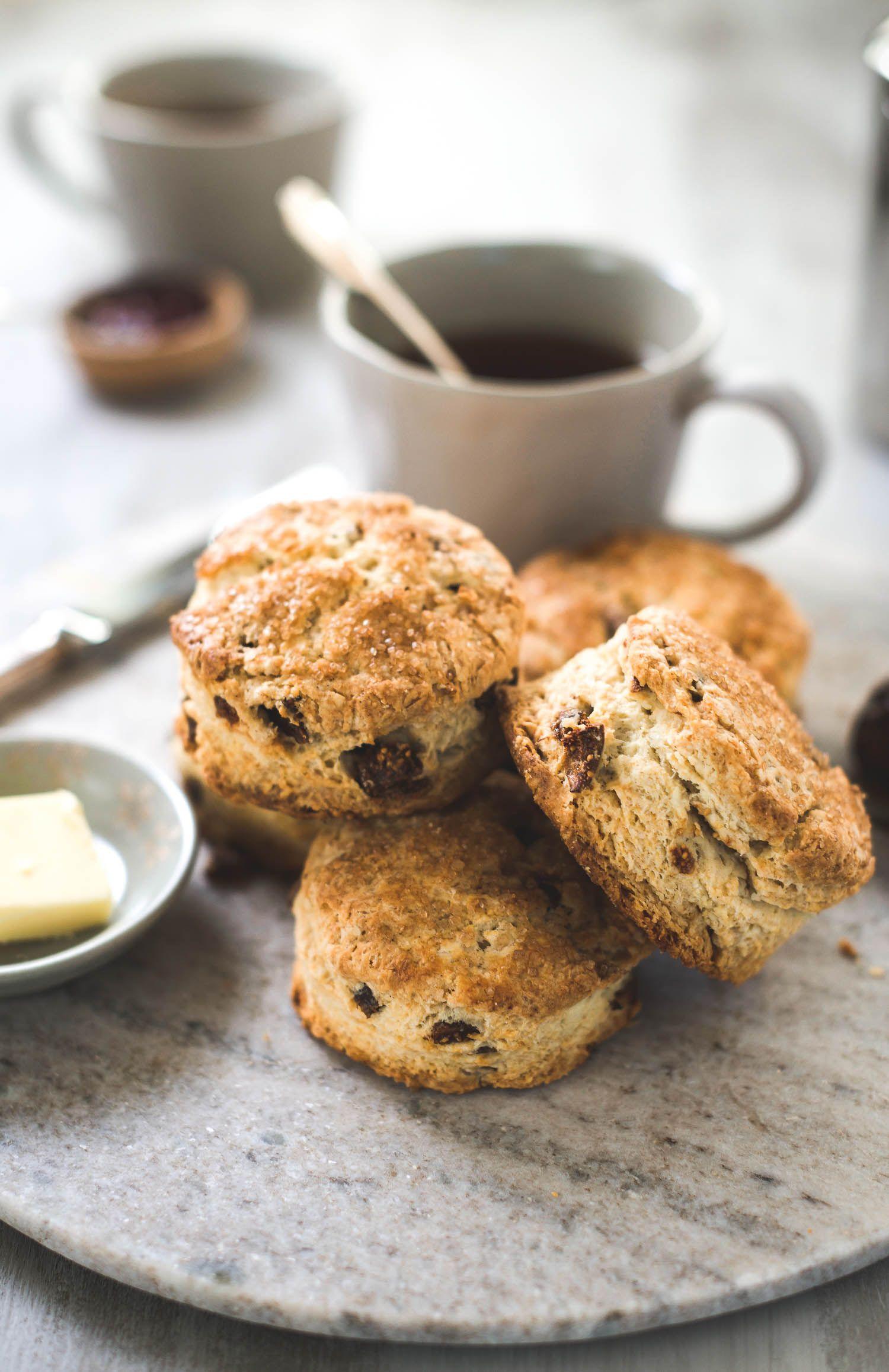 Fig Vanilla Buttermilk Scones Recipe Scones Homemade Pastries Food