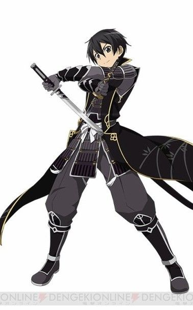 Sword Art Online Personnage : sword, online, personnage, Sword, Online, Kirito, Black, Samurai, Online,, Anime, Mangas,, Personnages, Naruto