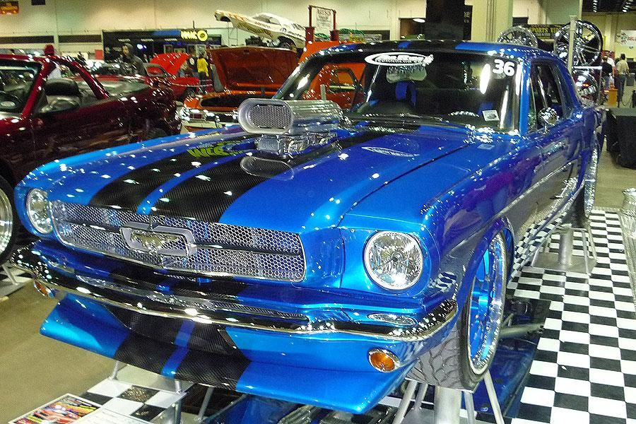 Ford Mustang Custom Paint Job Clic Wearing An Electric Blue And Plenty Of
