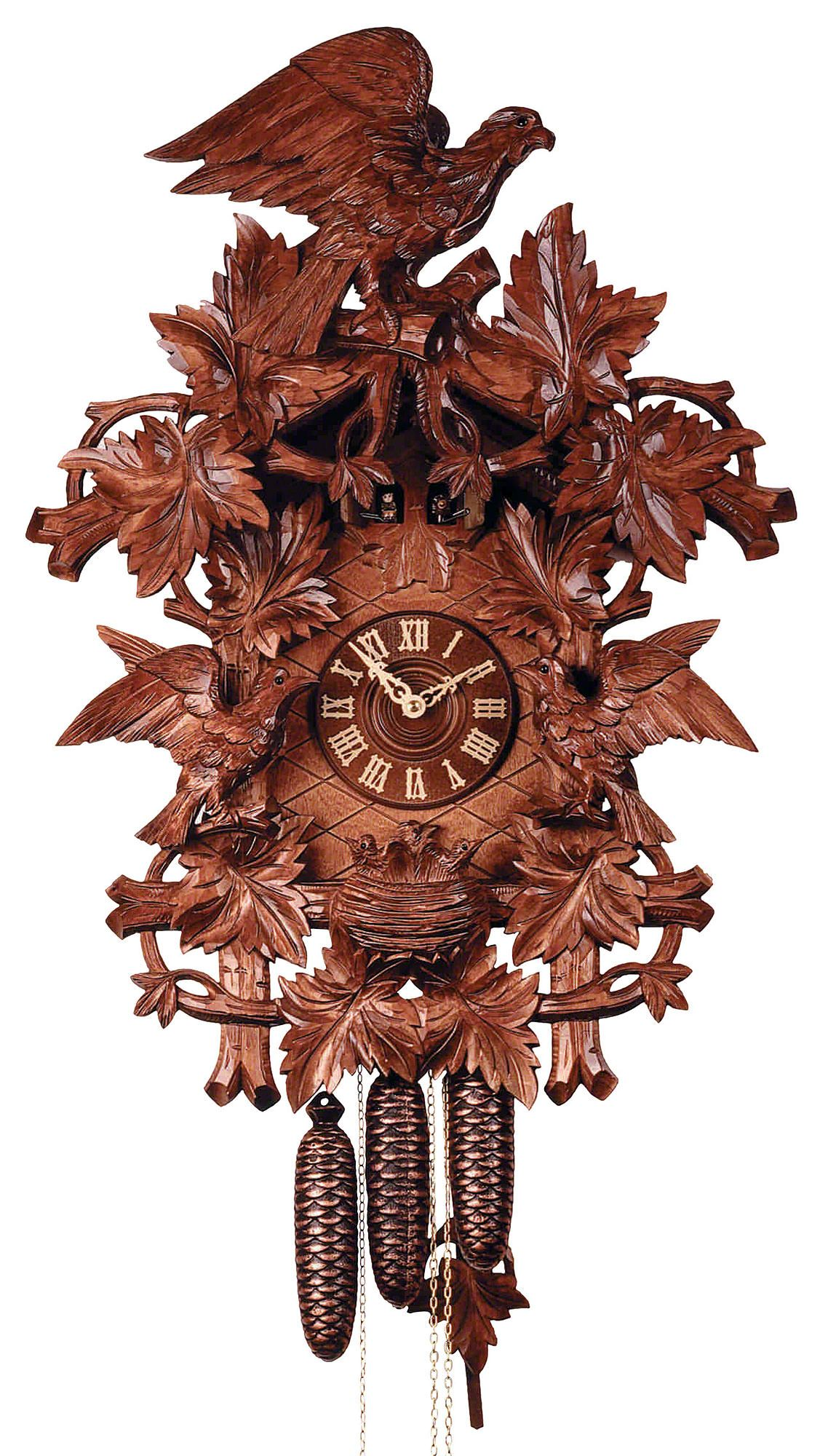 Reloj De Cuco Estilo Madera Tallada Movimiento Mecánico De 8 Días 70cm De Rombach Haas Reloj De Cuco Relojes De Pared Reloj De Péndulo