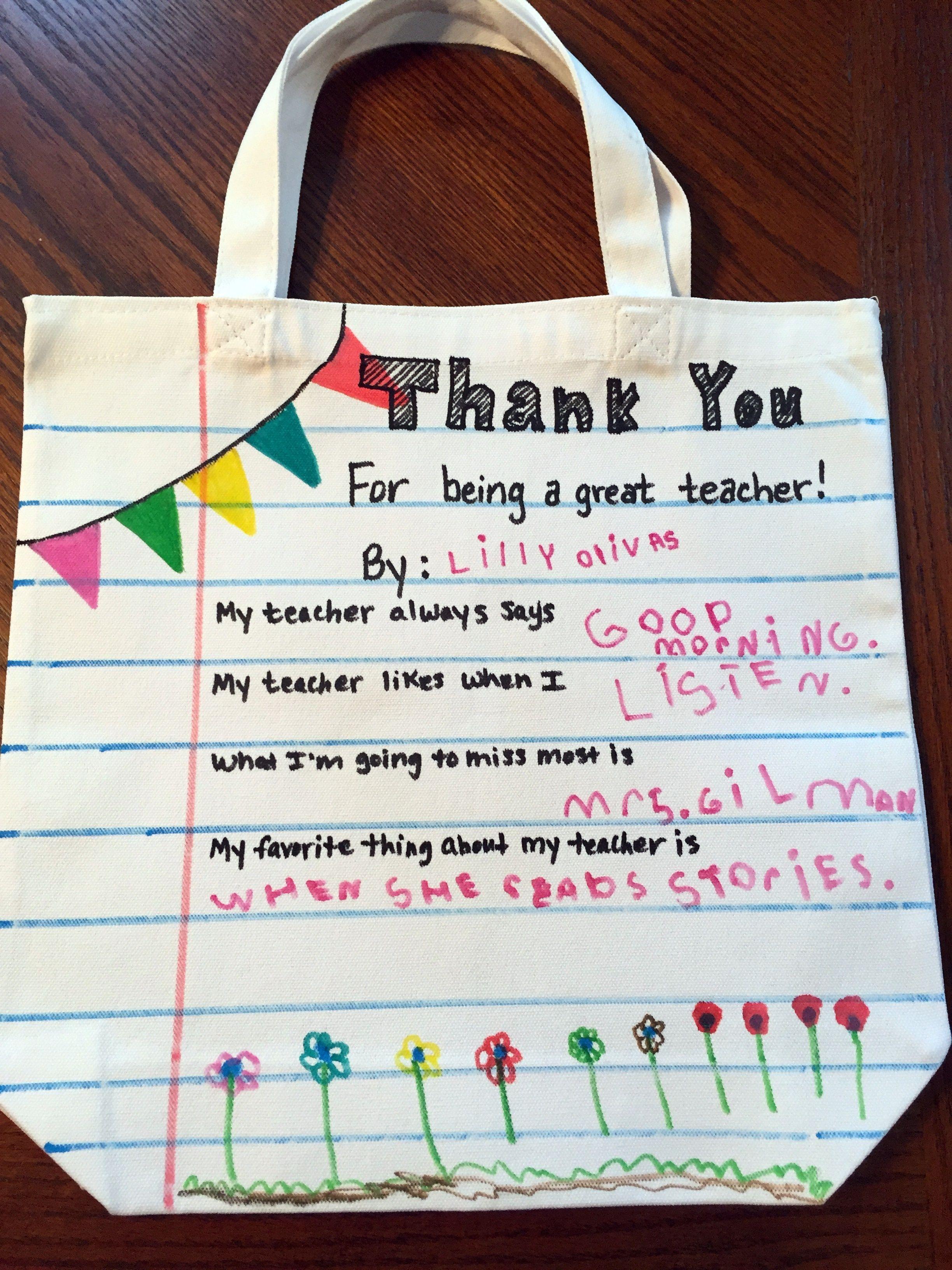 79c09ac76b Προσωποποιημένη χειροποίητη τσάντα από ύφασμα για δασκάλα