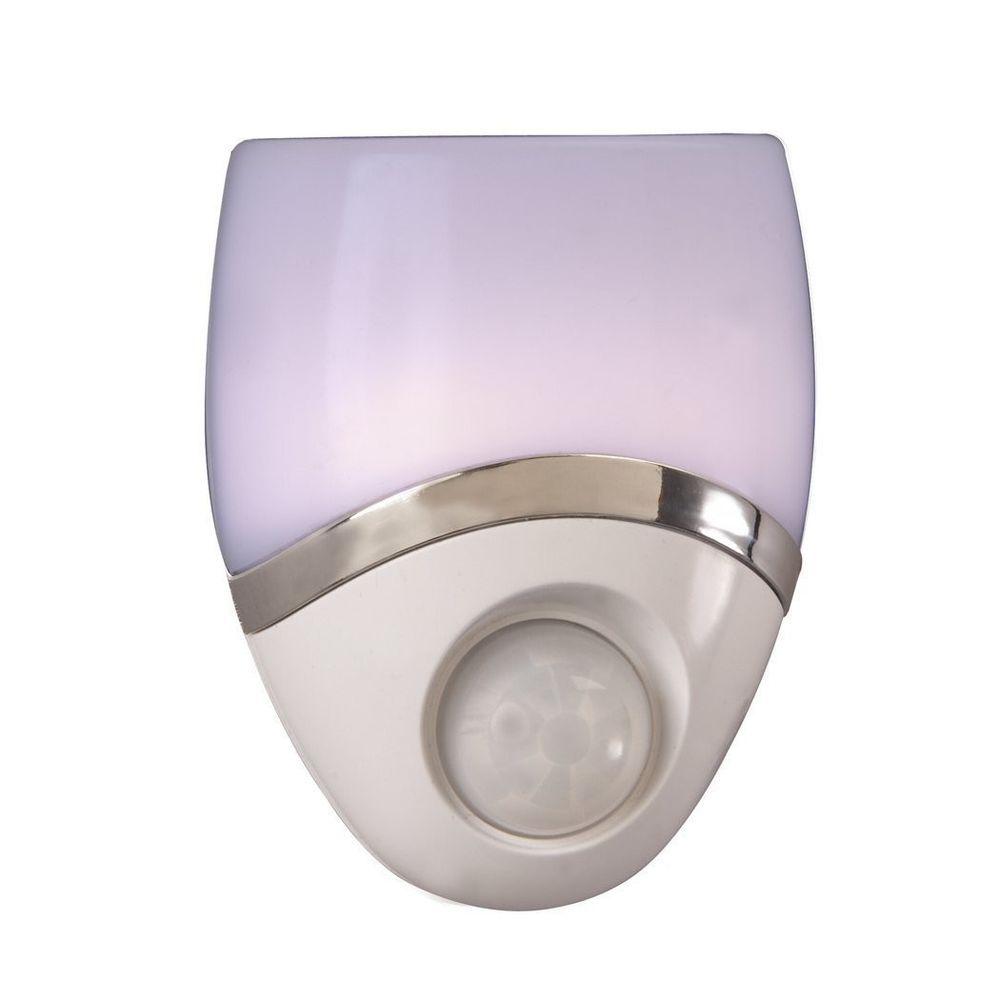 night light led plug in bedroom motion sensor white