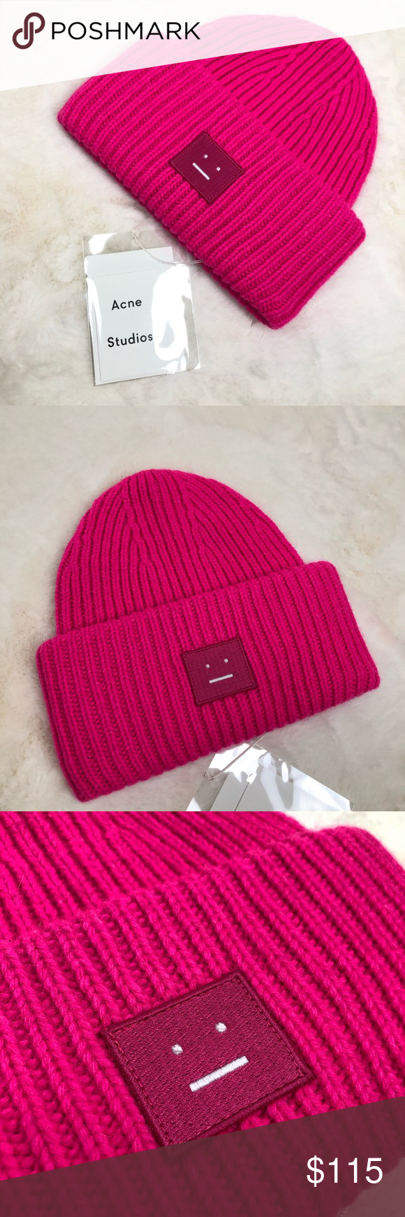 fa52cacd6 Acne Studios Hot Pink Oversized Wool Beanie Brand new with tags Acne ...