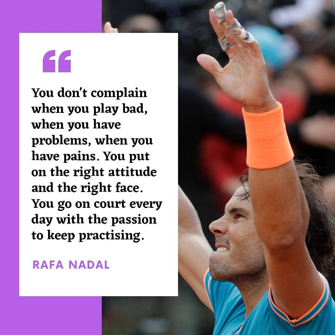 Rafael Nadal Fans On Instagram What A Great Quote From Rafaelnadal On How To Improve Mentally Feel Free To Tag Great Quotes Feelings Rafael Nadal Fans