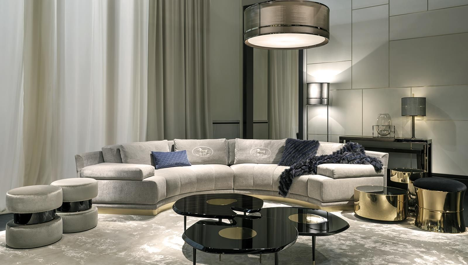 Fendi casa interior collections by luxury living group for Drawing room furniture catalogue