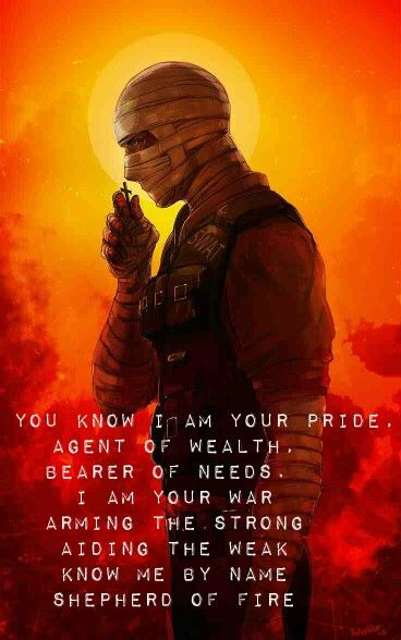 Joshua Graham Fnv And A7x Shepherd Of Fire Lyrics With Images