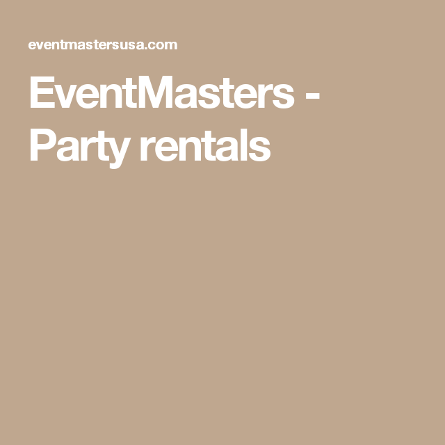 EventMasters - Party rentals
