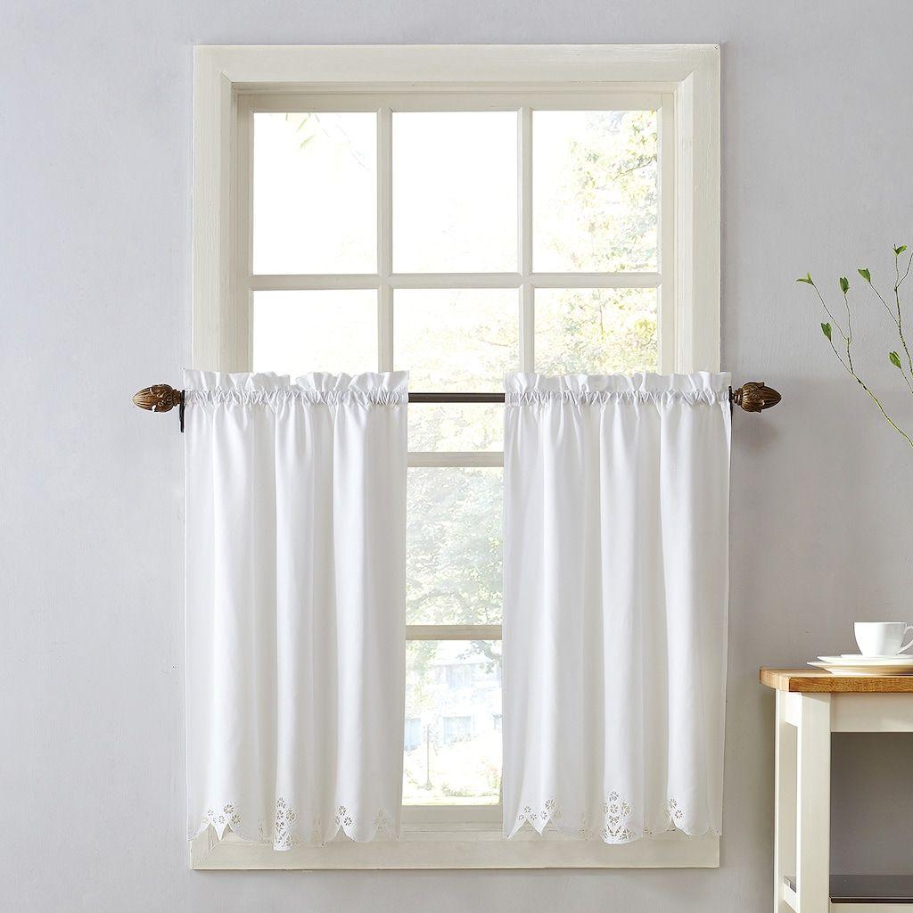 Top Of The Window Georgia Battenburg Tier Kitchen Curtain Pair Curtains
