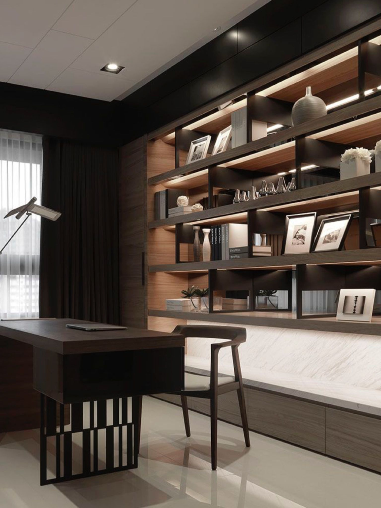 51 Inspiring Home Office Cabinet Design Ideas