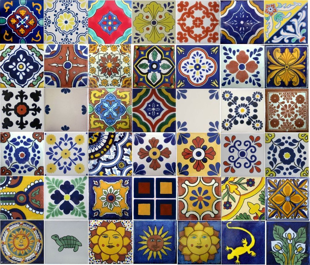 Mexican tiles mixed selection 2x2 4x4 6x6 mexicans tile mexican tiles mixed selection 2x2 4x4 6x6 dailygadgetfo Image collections