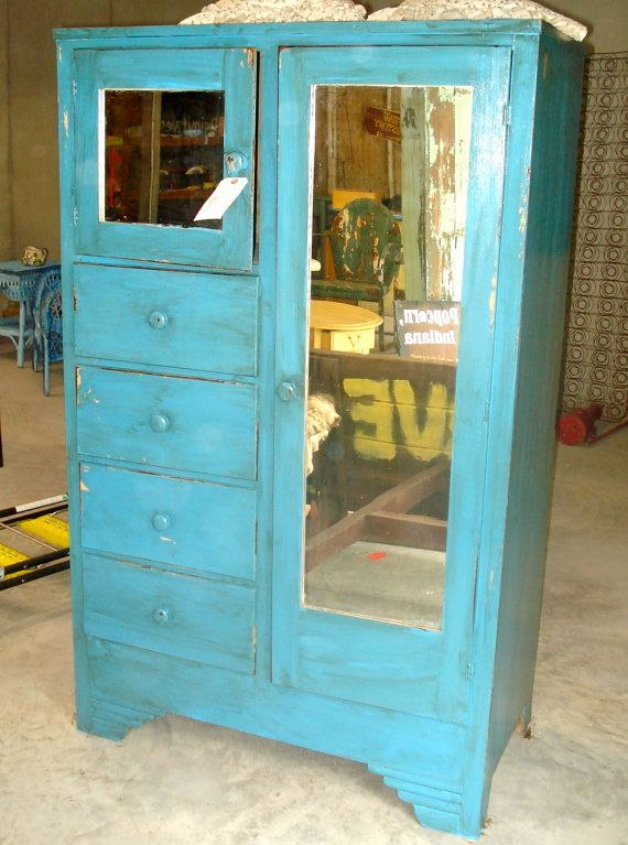 Antique Wardrobe Or Chifferobe From The I Have One Of These Except It Has Double Door W Mirrors And Deep Bottom Going To Paint Black Replace
