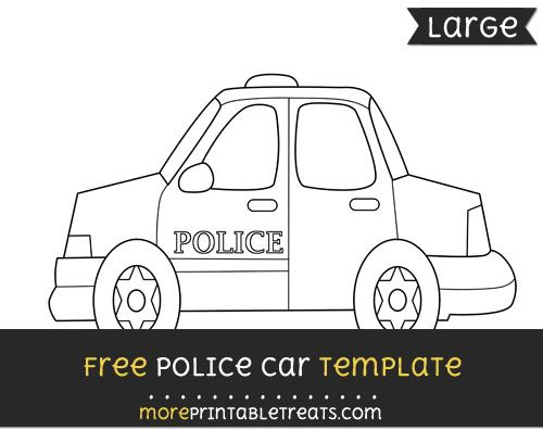 free police car template large shapes and templates printables