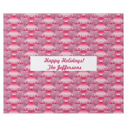 Funky Pink Reindeer Christmas Wrapping Paper | Zazzle.com #funkyreindeer