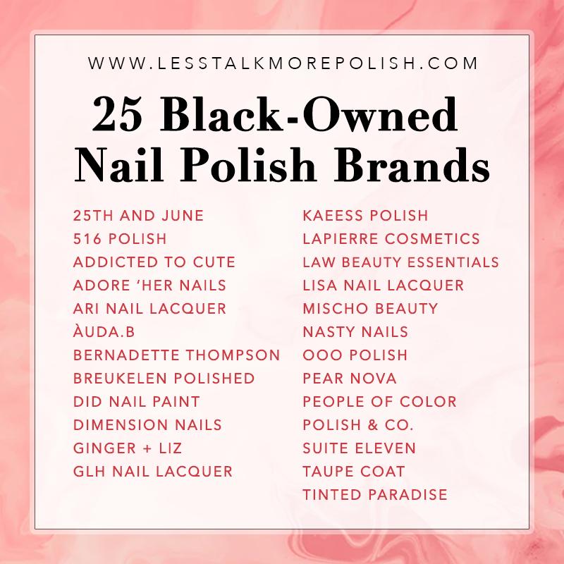 Black Owned Nail Polish Brands Nail Polish Brands Indie Nail Polish Brands Indie Nail Polish