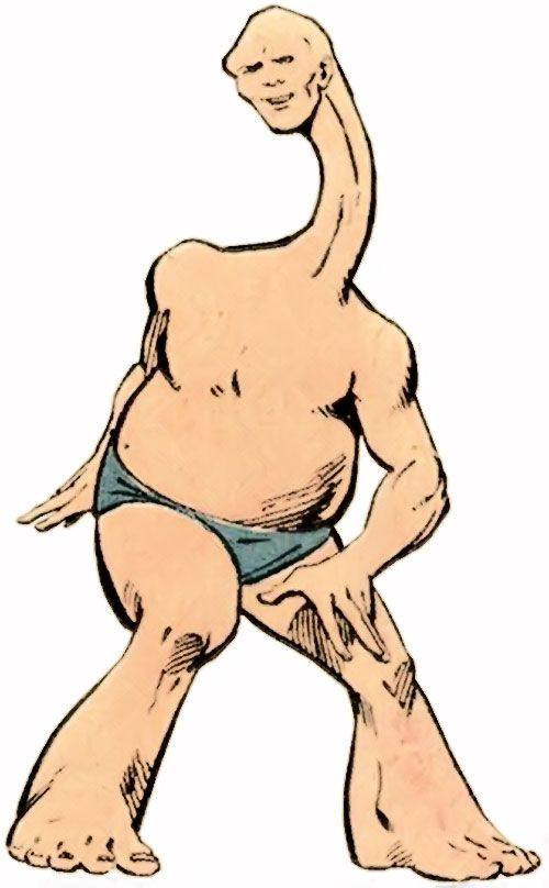 Shape of the Squadron Supreme (Marvel Comics) stretching his neck