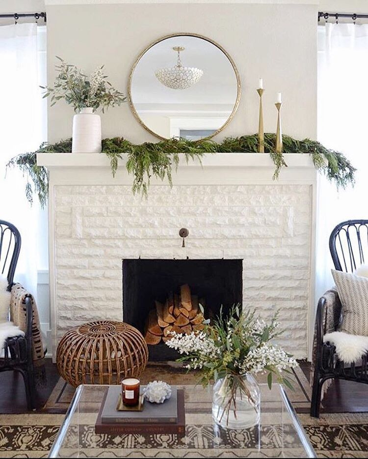 "One Kings Lane on Instagram: ""Minimal mantels that make us stop mid-scroll."