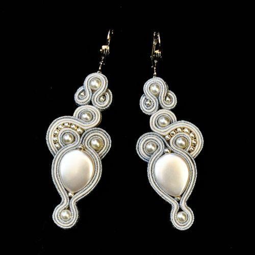 Matrimonio perline d'argento di bella di SOUTACHESYLWIAZAK su Etsy, zł210.00