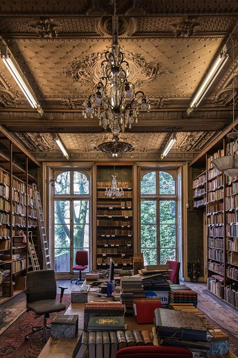 Classical style home library in the Netherlands  homeadvertsc  homeadverts  Classical style home library in the Netherlands  Built in the Mid homeadverts  Classical styl...