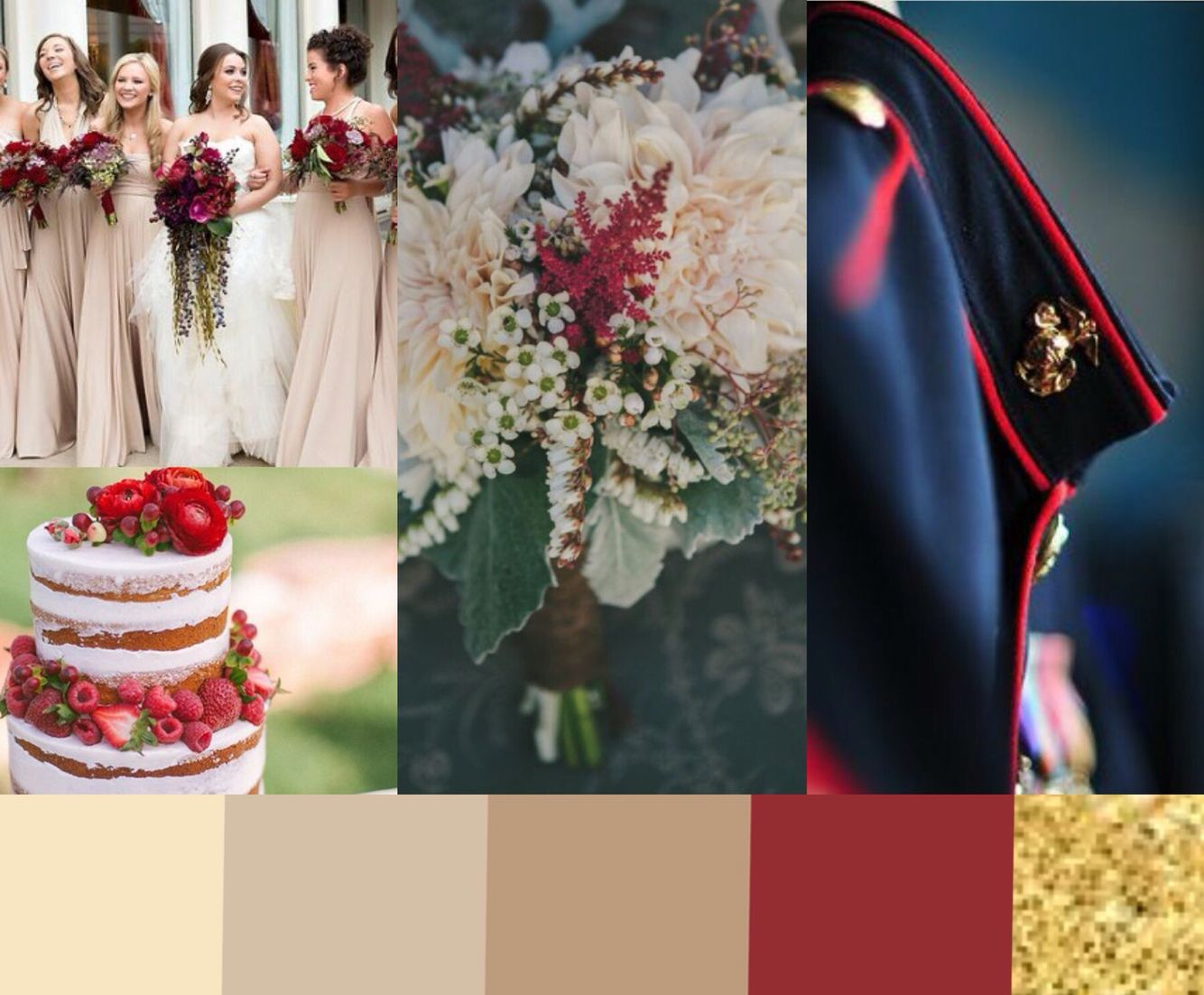 Usmc Wedding Color Scheme Without Looking Like The 4th Of July More