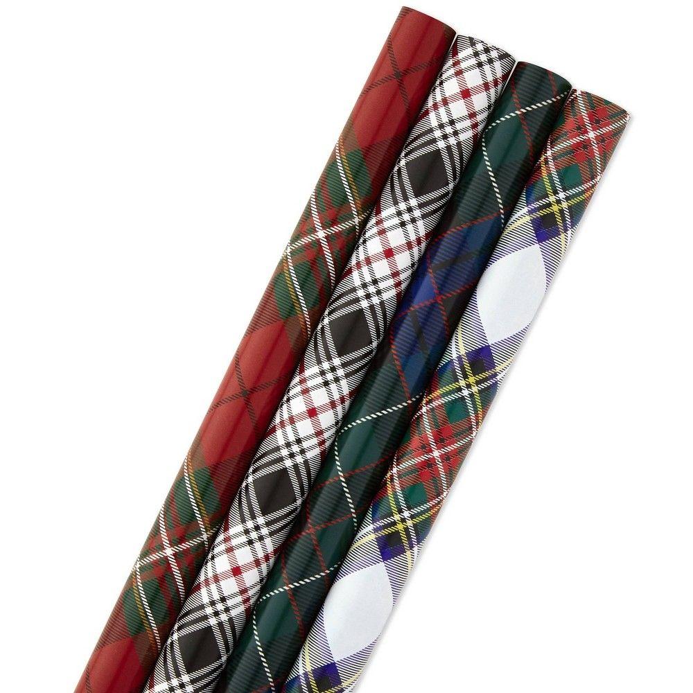4ct120 sq ft hallmark plaid gift wrap plaid gift plaid