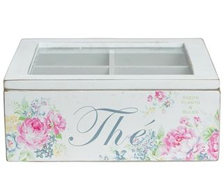 This charming painted wooden Vera Tea Box by GreenGate is a perfect gift for tea lovers.    http://www.lovefromrosie.co.uk/greengate-vera-wooden-tea-box-p/ggvtea.htm