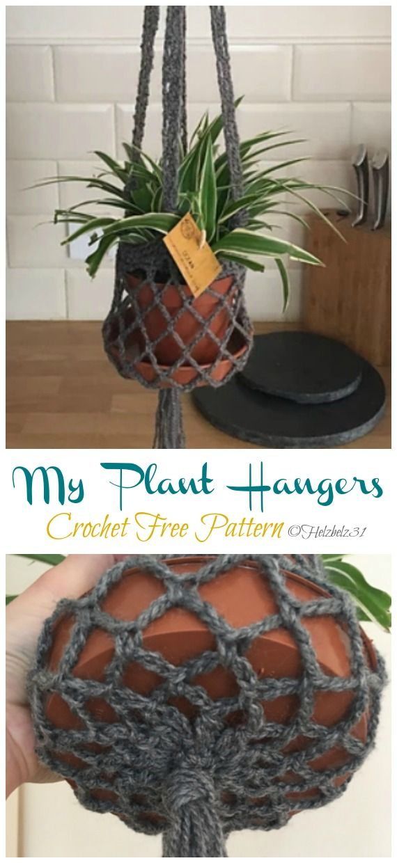Plant Hanger Crochet Free Patterns - Crochet & Knitting