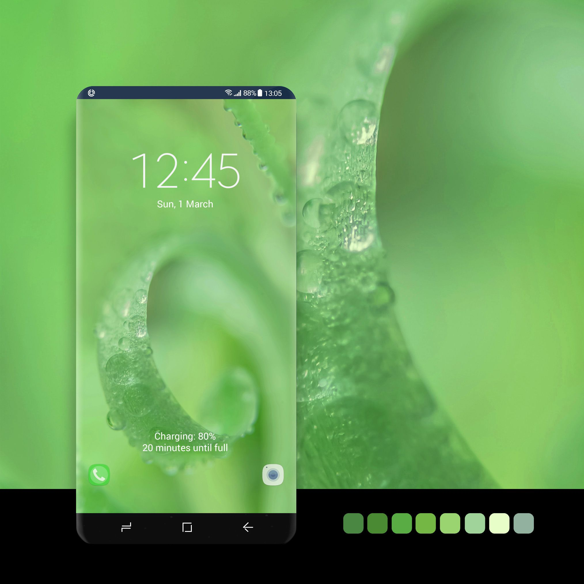 Green curl wallpaper #wallpaper, #android, #phone