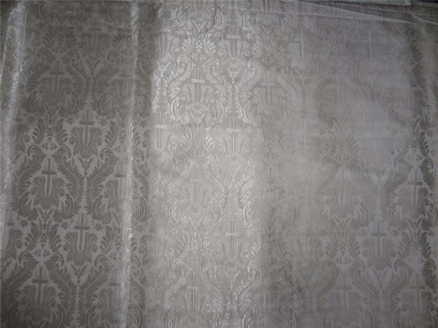 "Brocade Fabric Ivory Color 44"""