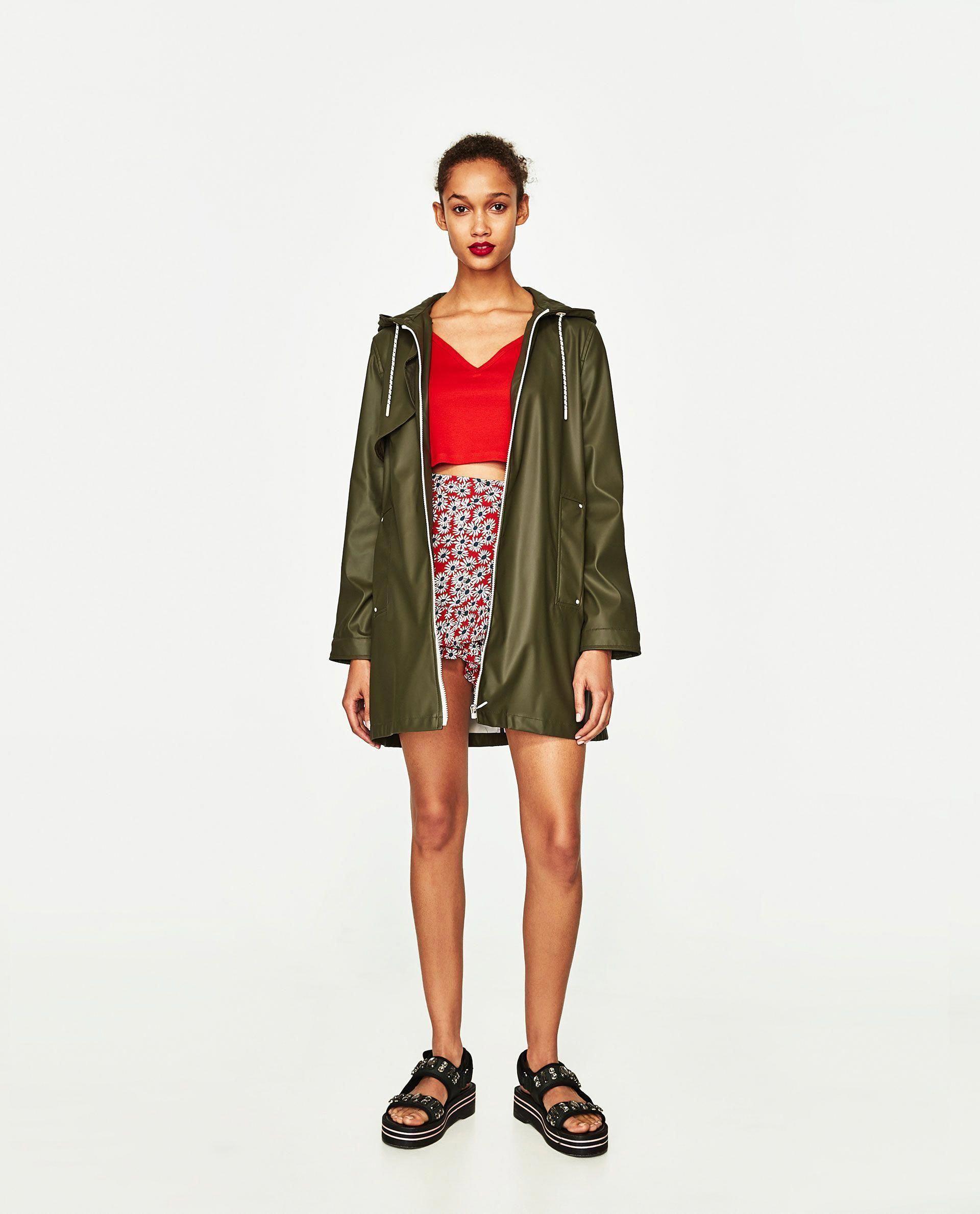 Summer Mae Womens Long Hooded Rain Jacket Waterproof Lightweight Raincoat Windbreaker