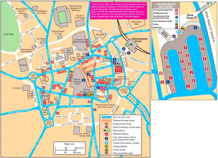 Wolverhampton tourist map Maps Pinterest Tourist map