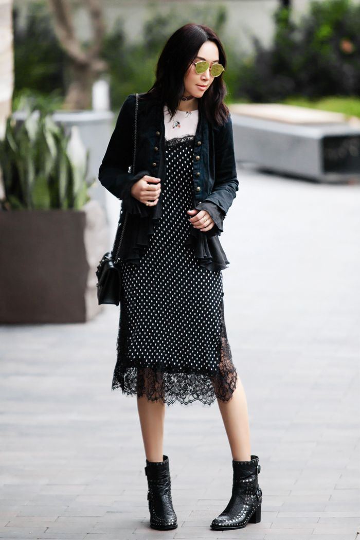 b370258504bc Free People style, Free People Margot Slipdress, Slipdress style, layered  look, laces