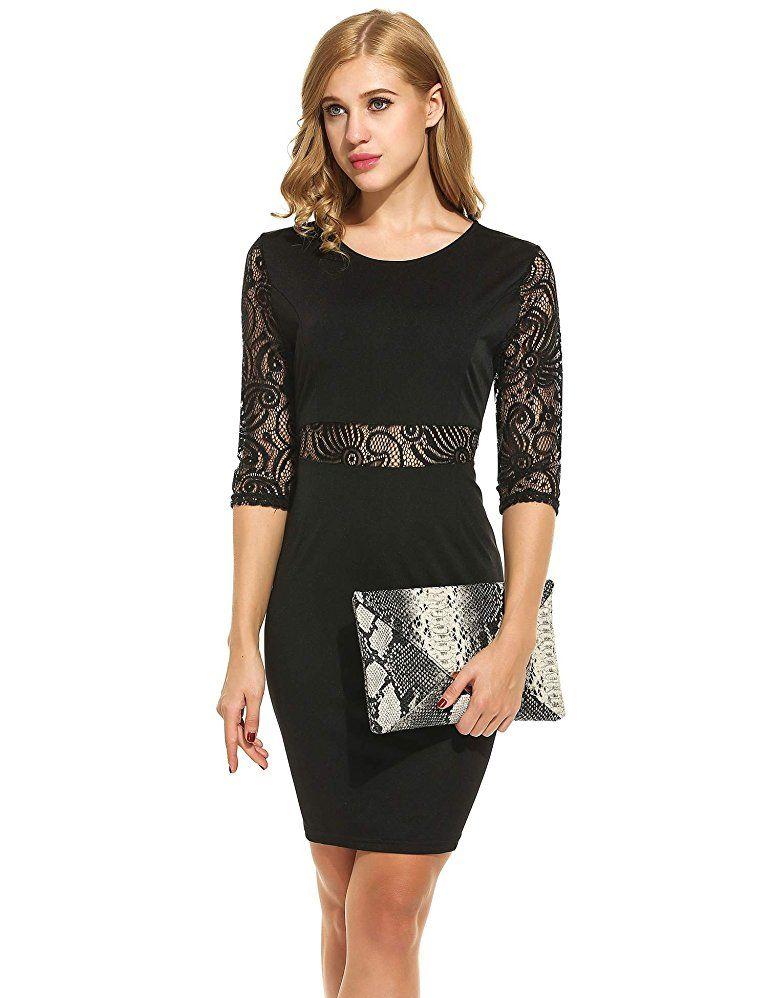 a4b5478ce69e7 ZEARO Damen Sexy Spitze Kleid Taille Perspektive und Rücken Swing Spliss  Design: - silvester outfit