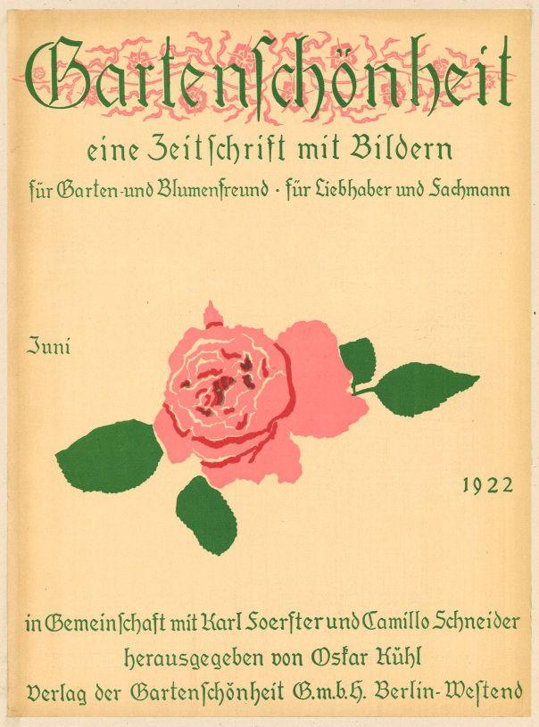 Garten Magazine garten schönheit june 1922 vintage magazine cover europe
