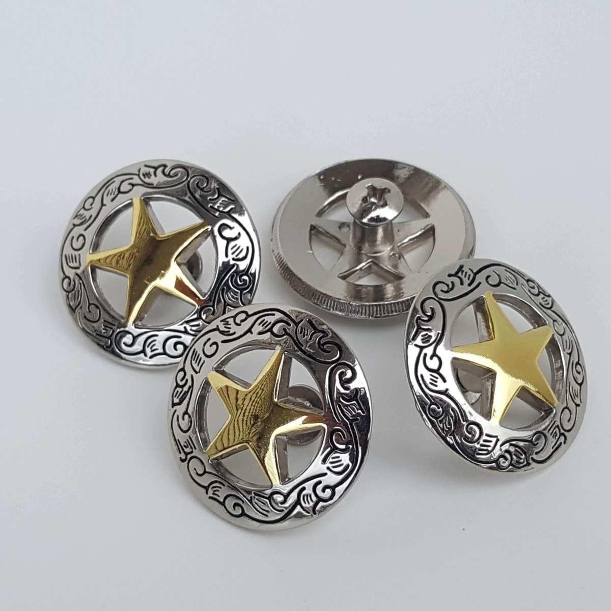 Set of 10 Western Engraved 12 Heart Conchos Saddle tack belt