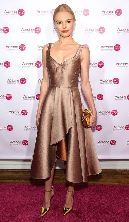 Bronze Tea Length Dress