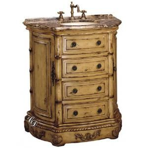 Clover Single 33 Inch Antique Parchment Bath Vanity