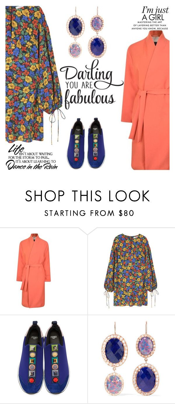 """""""FABULOUS GIRL!"""" by shoaleh-nia ❤ liked on Polyvore featuring By Malene Birger, MANGO, Fendi, Andrea Fohrman and WALL"""
