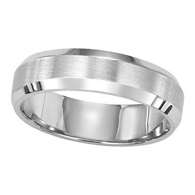 Men's bevelled wedding band from Lieberfarb • Available at Govberg Jewelers