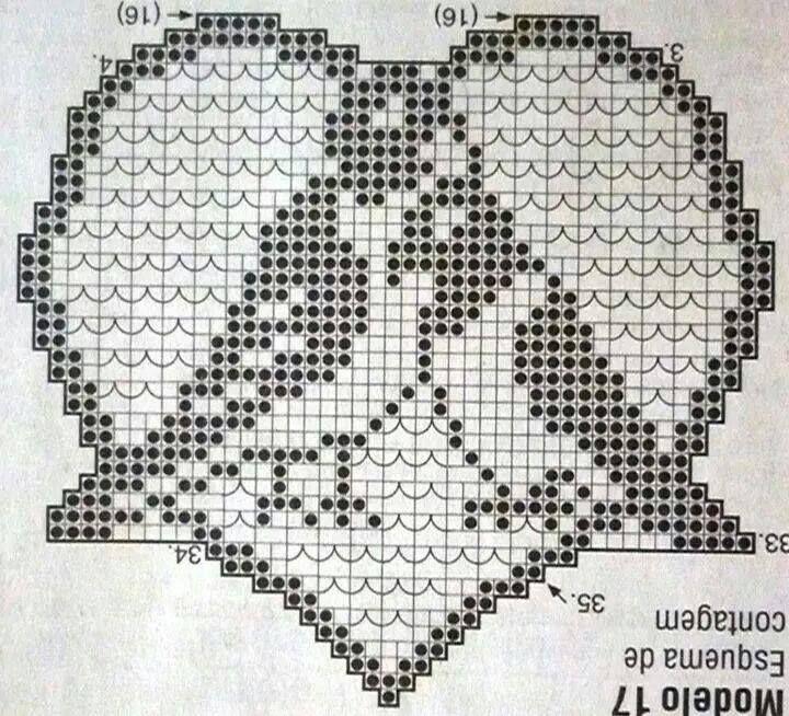 filet crochet motifs | валентинка | Pinterest | Apliques de crochet ...