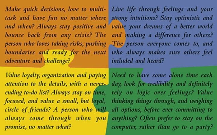 free color personality test pdf