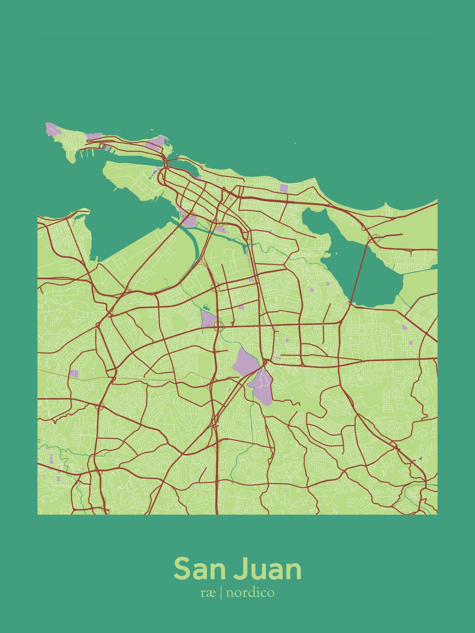 photo regarding Printable Maps of Puerto Rico titled San Juan, Puerto Rico Map Print Maps of Puerto Rico