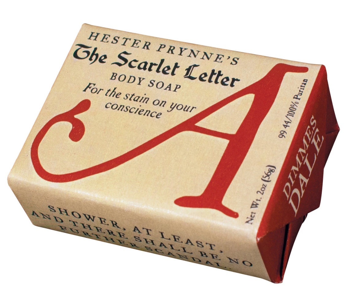 Hester Prynne's The Scarlet Letter Body Soap Body soap