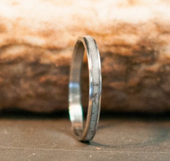 Womens Wedding Band Elk Antler Stacking Wedding Ring Staghead