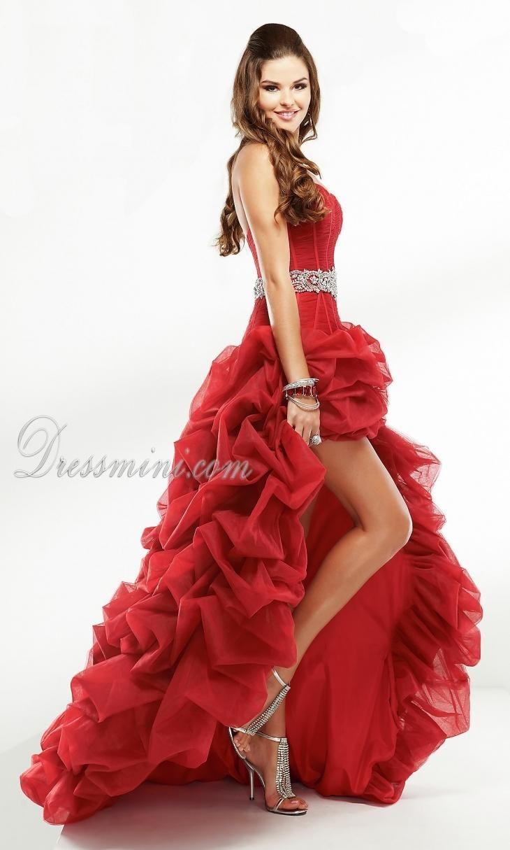 Vestidos de 15 rojos cortos