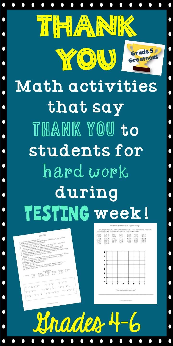 Math Review to thank students   Pinterest   Work hard, Math and ...
