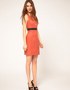Vila dress in paprika