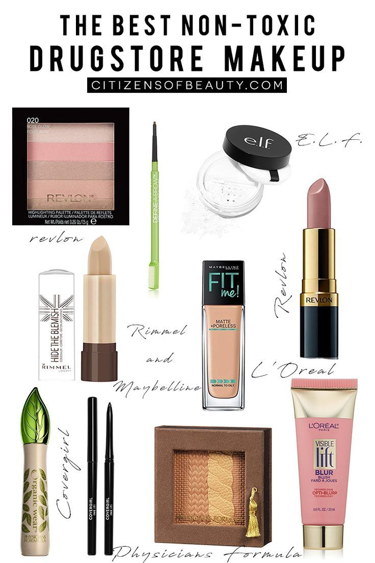 Best NonToxic Drugstore Cosmetics Guide Drugstore
