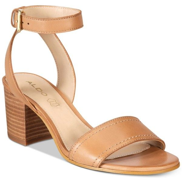 bcafed16ba9 Aldo Women s Lolla Two-Piece Block-Heel Sandals ( 70) ❤ liked on Polyvore  featuring shoes