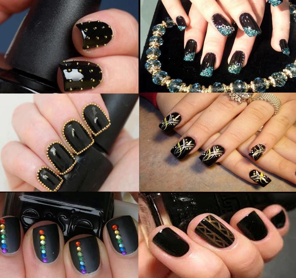 See more new black nail polish designs for ladies beauty tips