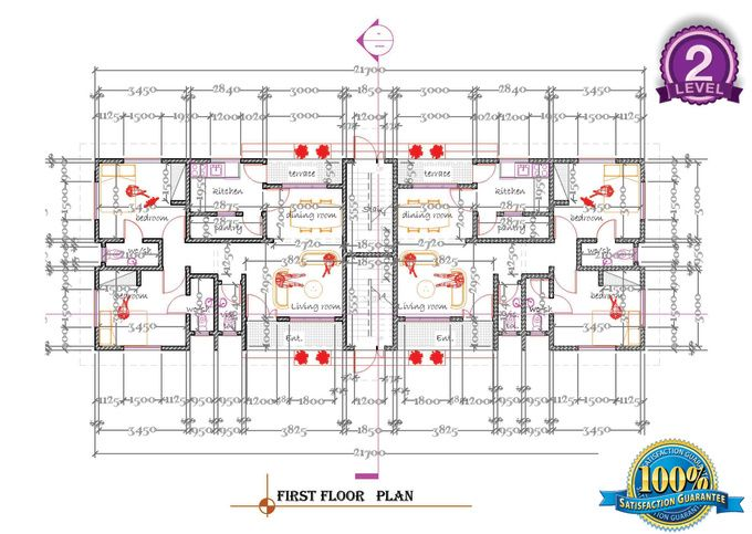 Design Your 2d Architectural Construction Drawing On Autocad By